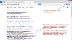 local search domination small Content: How To Use It To Gain Position In Search Engine Results