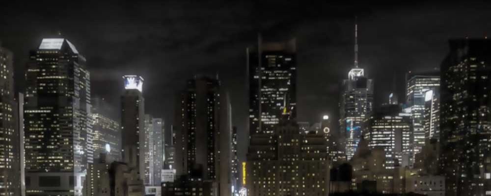city scape at night, full width header image, specialized digital marketing